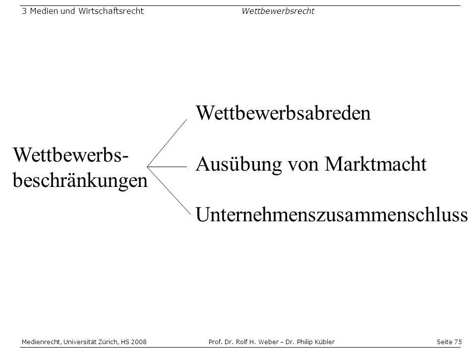 Seite 75 Medienrecht, Universität Zürich, HS 2008Prof.