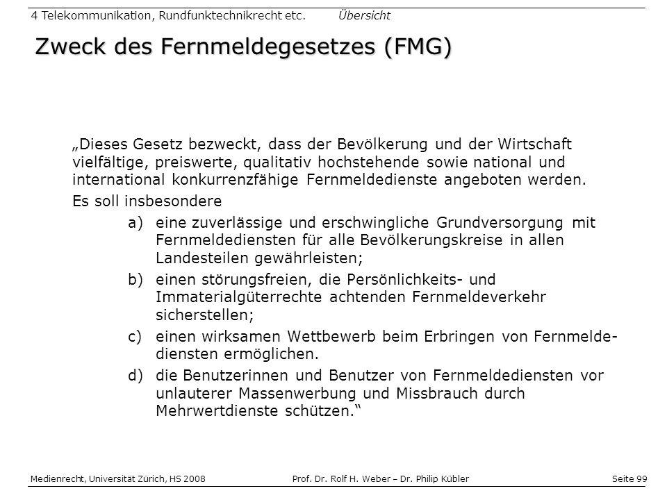 Seite 99 Medienrecht, Universität Zürich, HS 2008Prof.