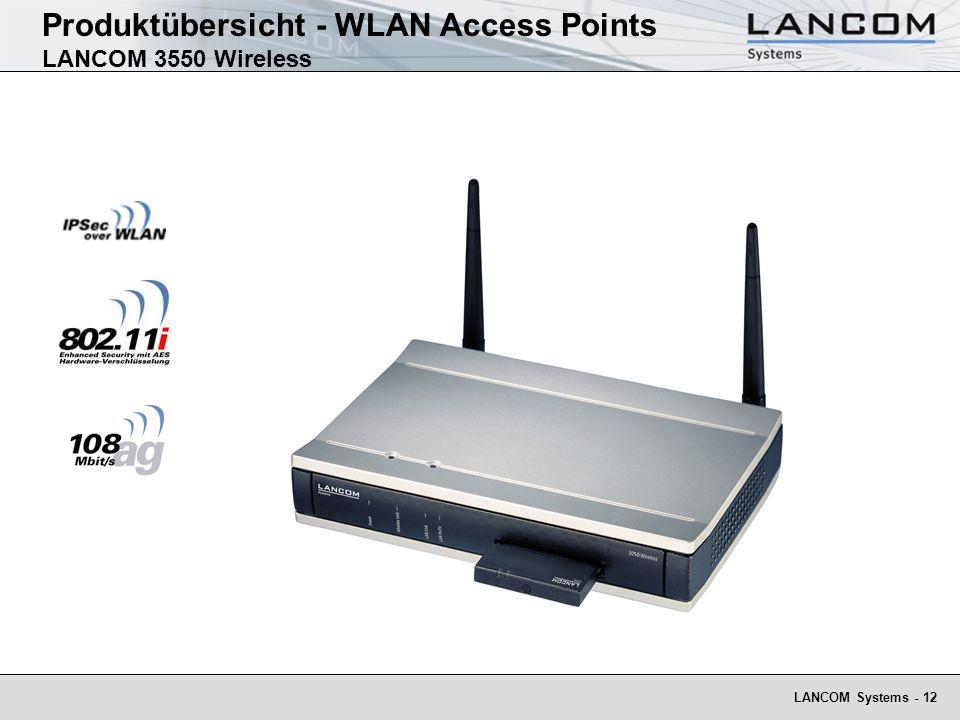LANCOM Systems - 12 Produktübersicht - WLAN Access Points LANCOM 3550 Wireless