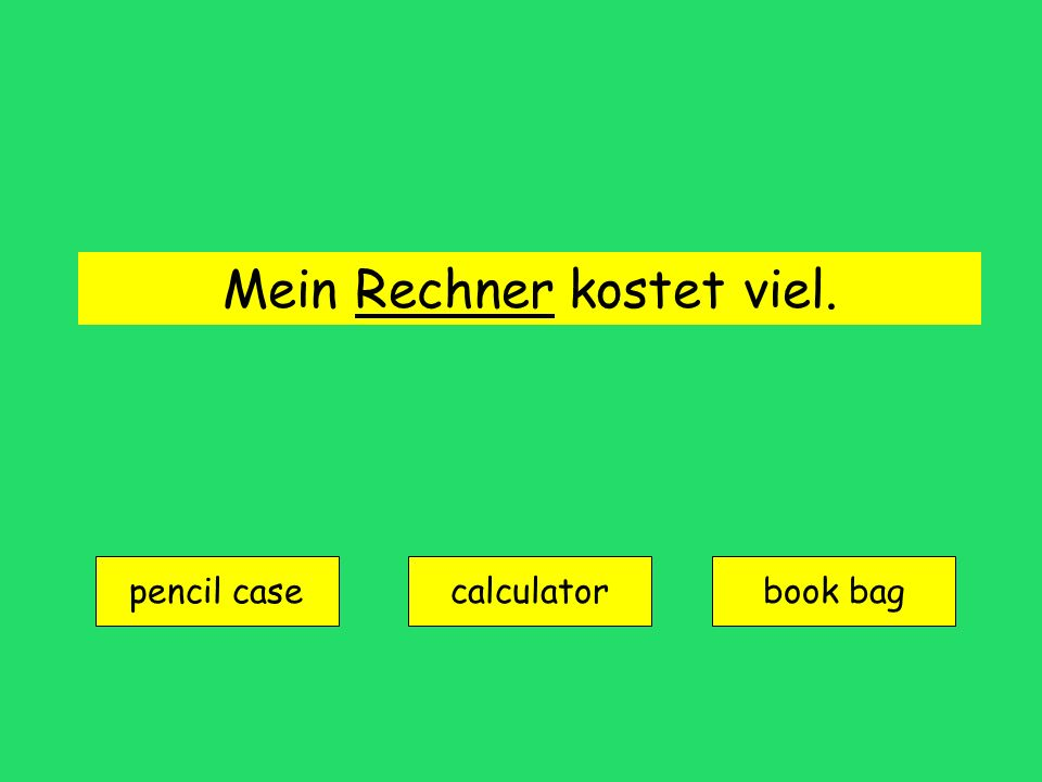 das Lineal = ruler