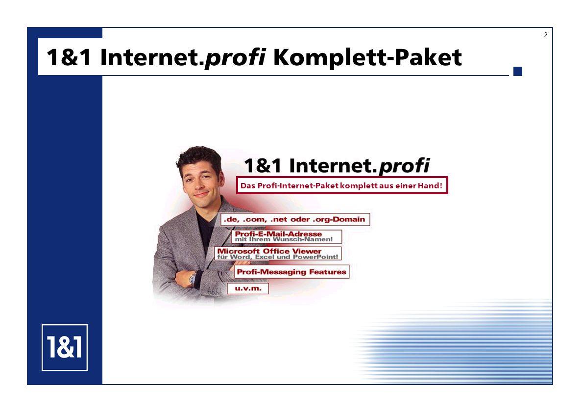 1&1 Internet. profi Komplett-Paket 2 Das Profi-Internet-Paket komplett aus einer Hand!