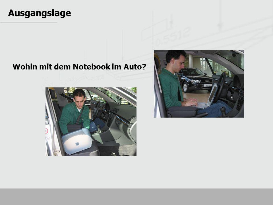 Sie befinden sich im Moment hier: Ausgangslage Wohin mit dem Notebook im Auto