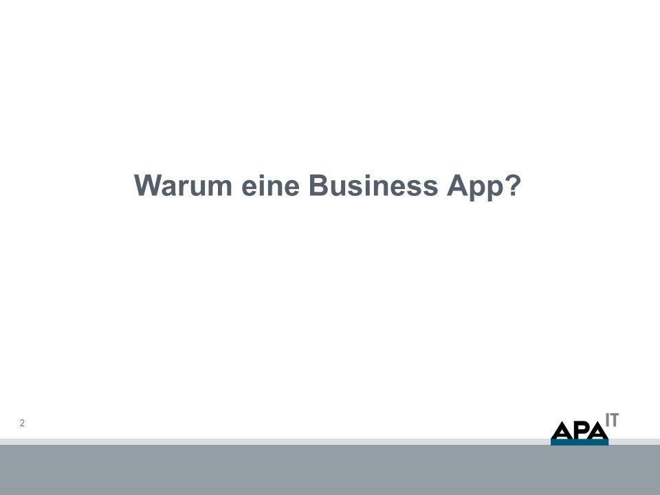 Warum eine Business App? 2