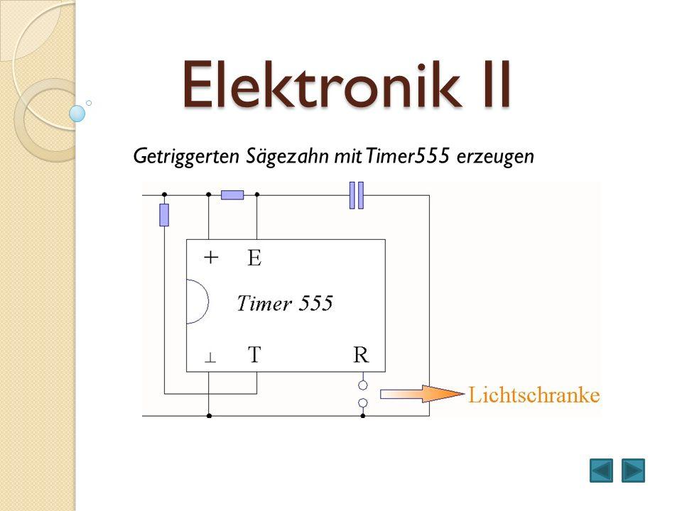 Elektronik II Getriggerten Sägezahn mit Timer555 erzeugen Schaltermodell
