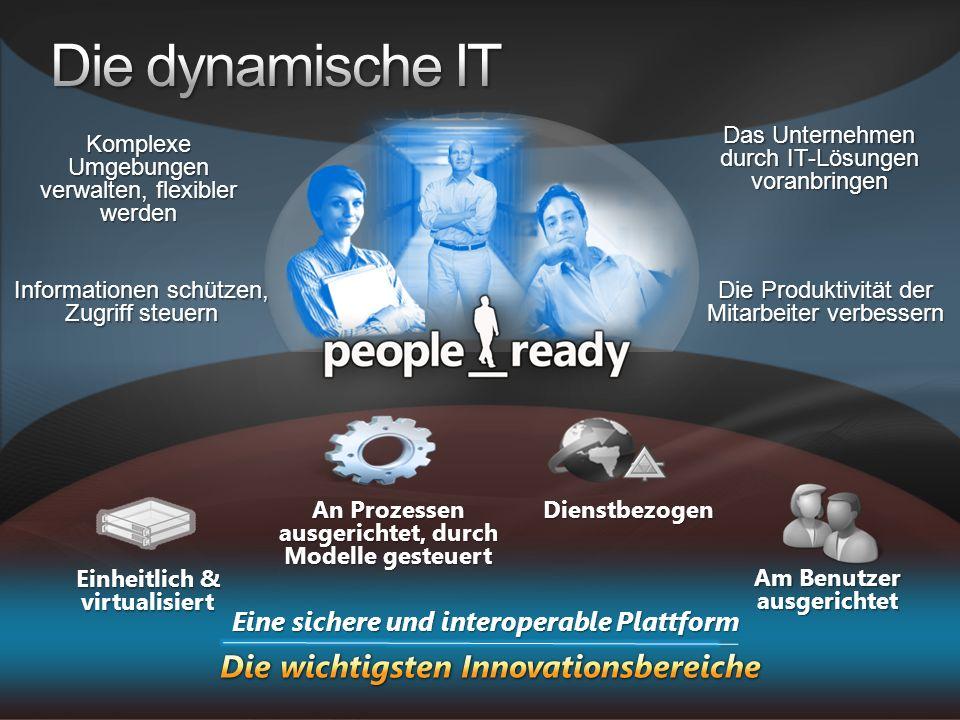 Komplexe Umgebungen verwalten, flexibler werden Informationen schützen, Zugriff steuern Das Unternehmen durch IT-Lösungen voranbringen Die Produktivit