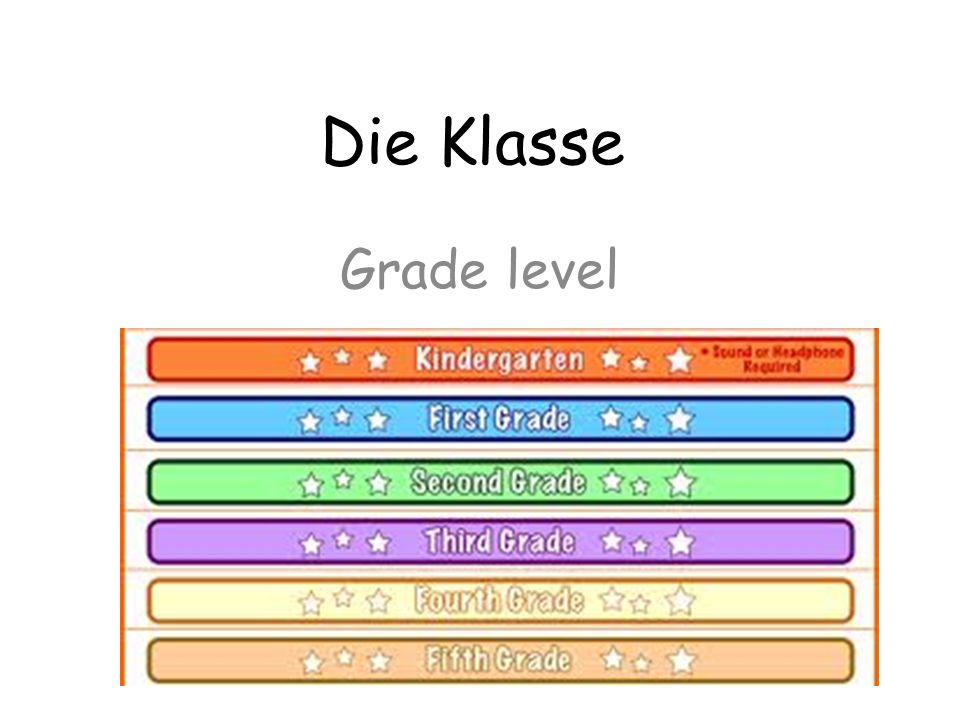 Die Klasse Grade level