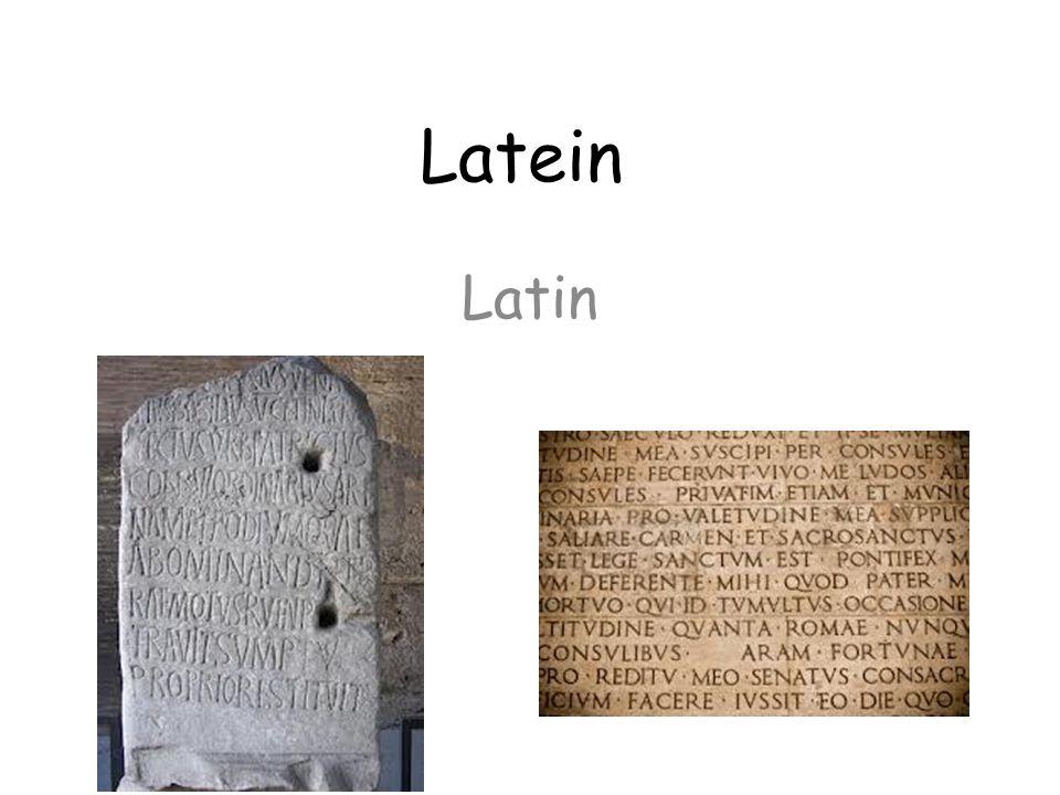 Latein Latin