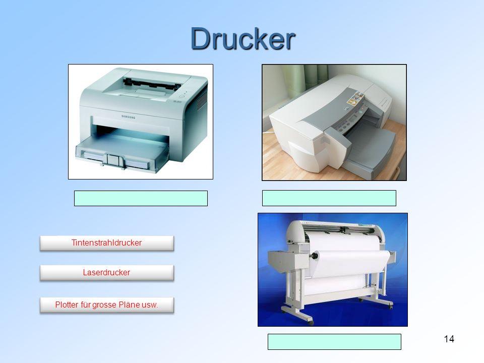 14 Drucker Plotter für grosse Pläne usw. Laserdrucker Tintenstrahldrucker