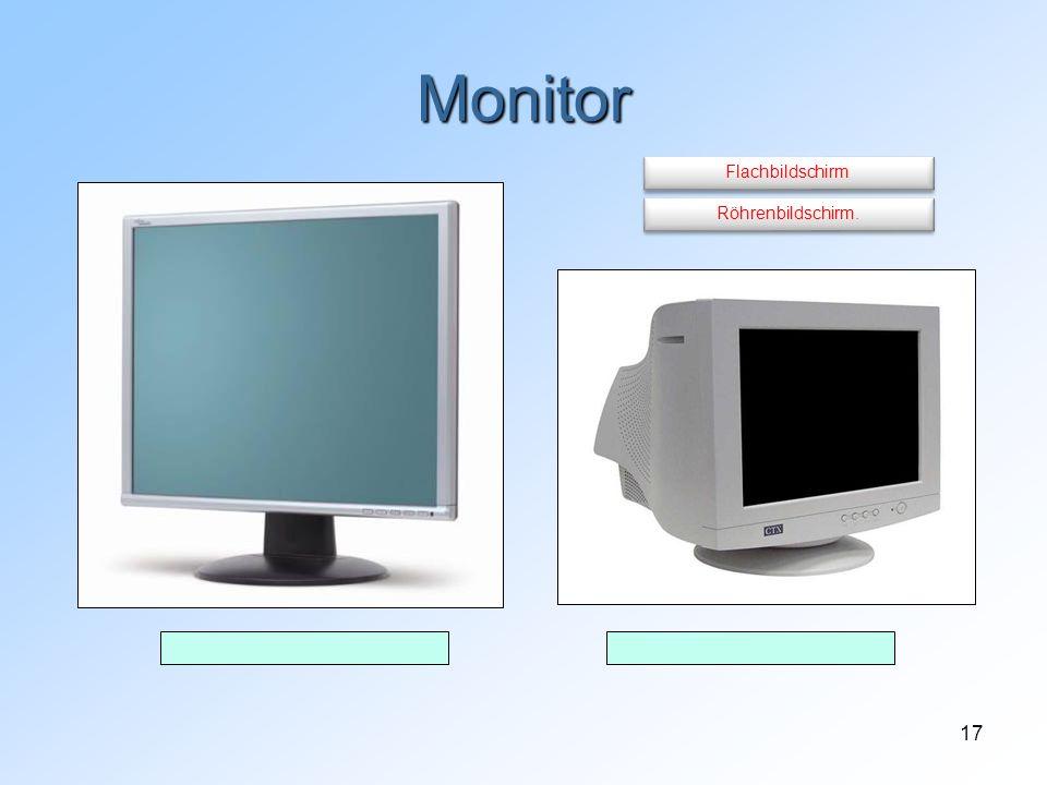 17 Monitor Röhrenbildschirm. Flachbildschirm