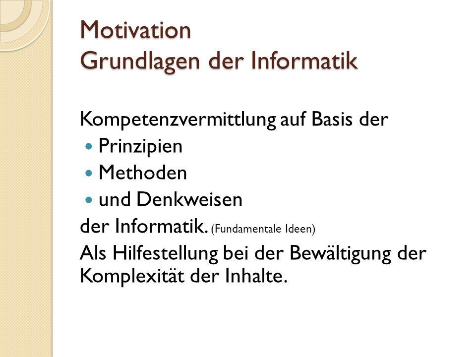 Motivation Kompetenzorientierter Unterricht Was können Schülerinnen, wenn sie das können.