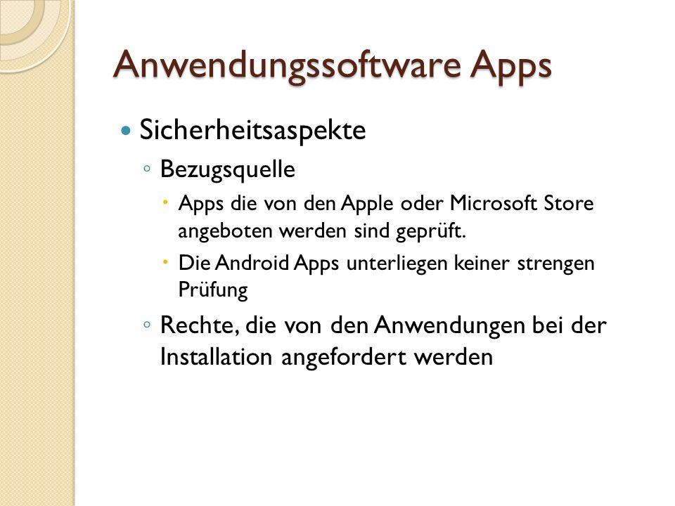 Anwendungssoftware Apps Beispiel Android