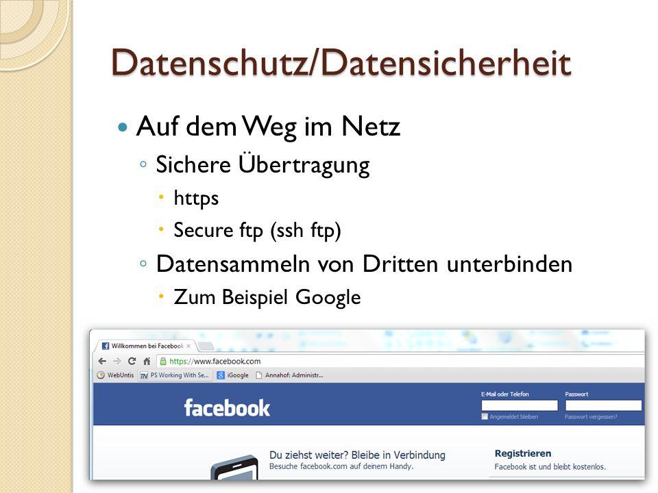 Datenschutz/Datensicherheit Beispiel Google (tracking cookies)