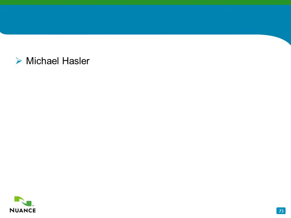 73 Michael Hasler