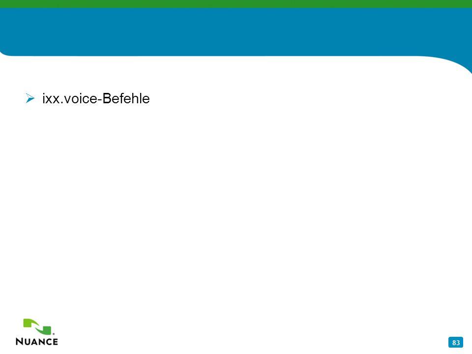 83 ixx.voice-Befehle