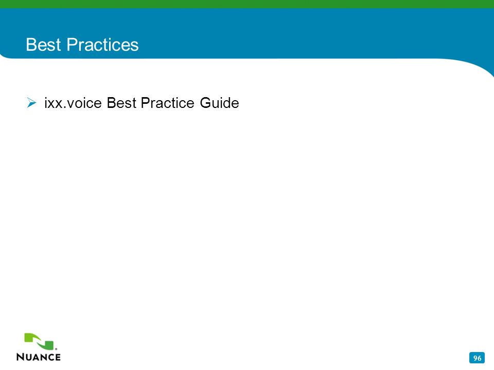 96 Best Practices ixx.voice Best Practice Guide