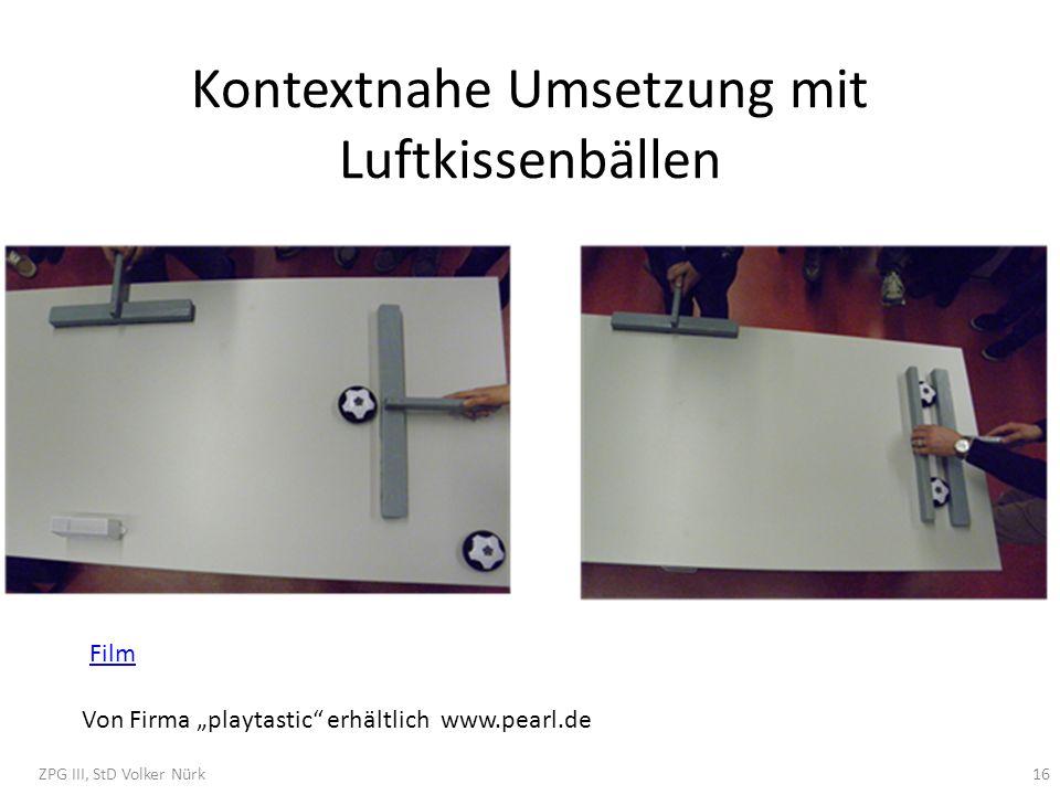 Kontextnahe Umsetzung mit Luftkissenbällen Von Firma playtastic erhältlich www.pearl.de ZPG III, StD Volker Nürk16 Film