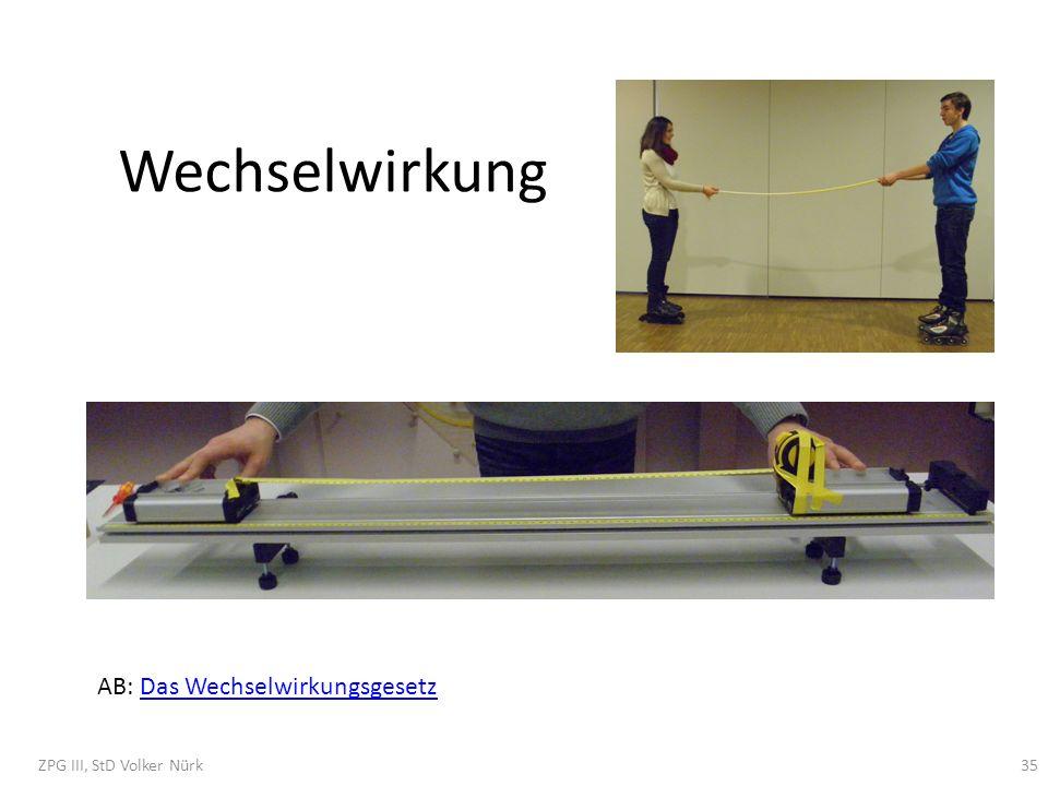 Wechselwirkung AB: Das WechselwirkungsgesetzDas Wechselwirkungsgesetz ZPG III, StD Volker Nürk35