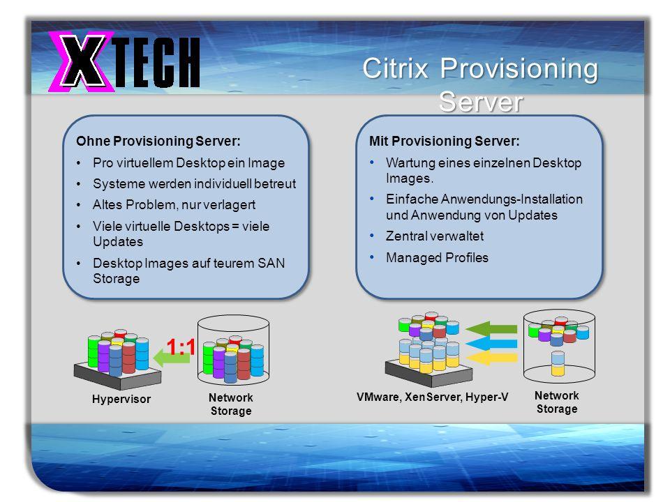 Titelmasterformat durch Klicken bearbeiten Citrix Provisioning Server Ohne Provisioning Server: Pro virtuellem Desktop ein Image Systeme werden indivi