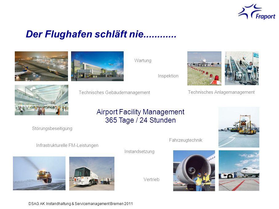 Airport Facility Management 365 Tage / 24 Stunden Fahrzeugtechnik Technisches Anlagemanagement Inspektion Wartung Technisches Gebäudemanagement Infras