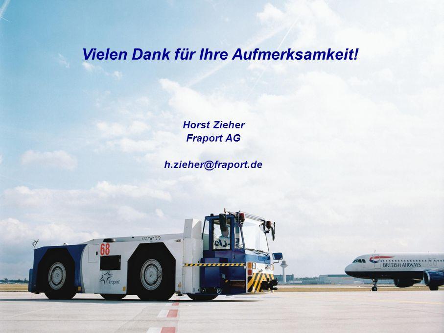Vielen Dank für Ihre Aufmerksamkeit! Horst Zieher Fraport AG h.zieher@fraport.de