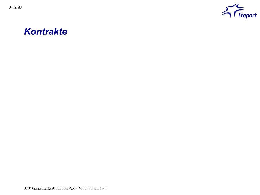 Kontrakte Seite 62 SAP-Kongress für Enterprise Asset Management 2011