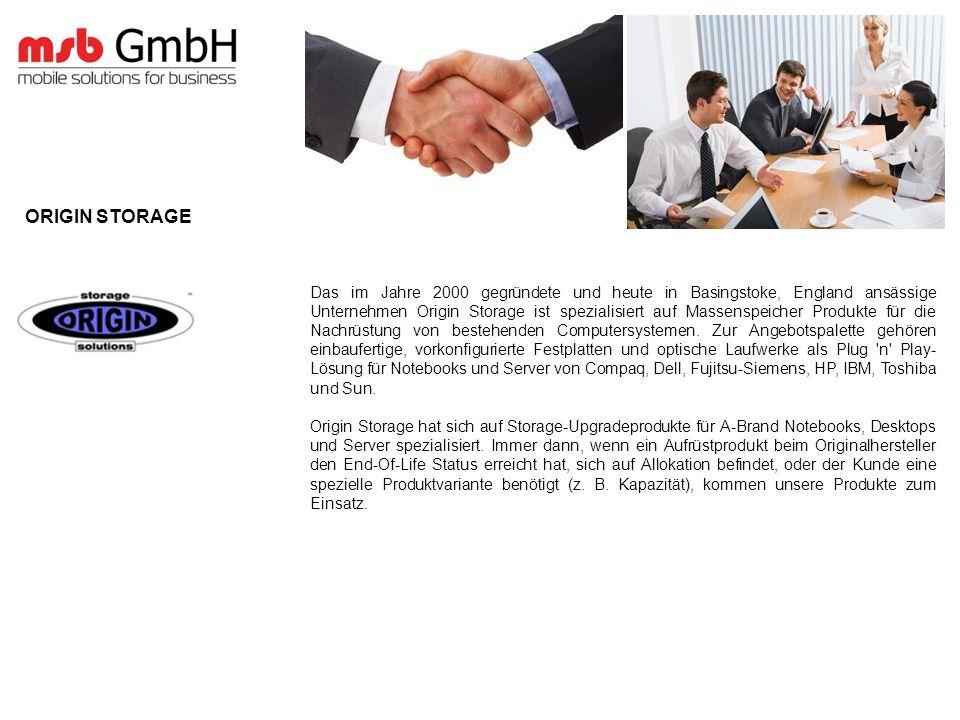 Das im Jahre 2000 gegründete und heute in Basingstoke, England ansässige Unternehmen Origin Storage ist spezialisiert auf Massenspeicher Produkte für