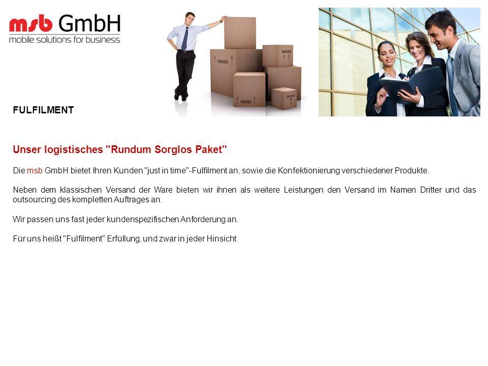 FULFILMENT Unser logistisches