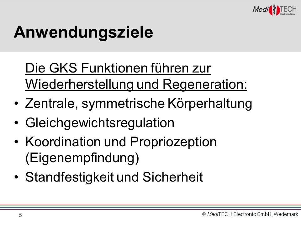 © MediTECH Electronic GmbH, Wedemark Anwendungsziele Die GKS Funktionen führen zur Wiederherstellung und Regeneration: Zentrale, symmetrische Körperha