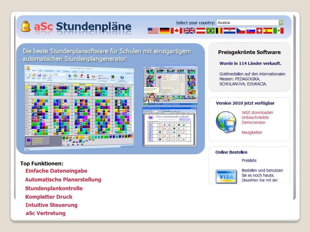 Stundenplan/Vertretungsplaner Bekannte Produkte