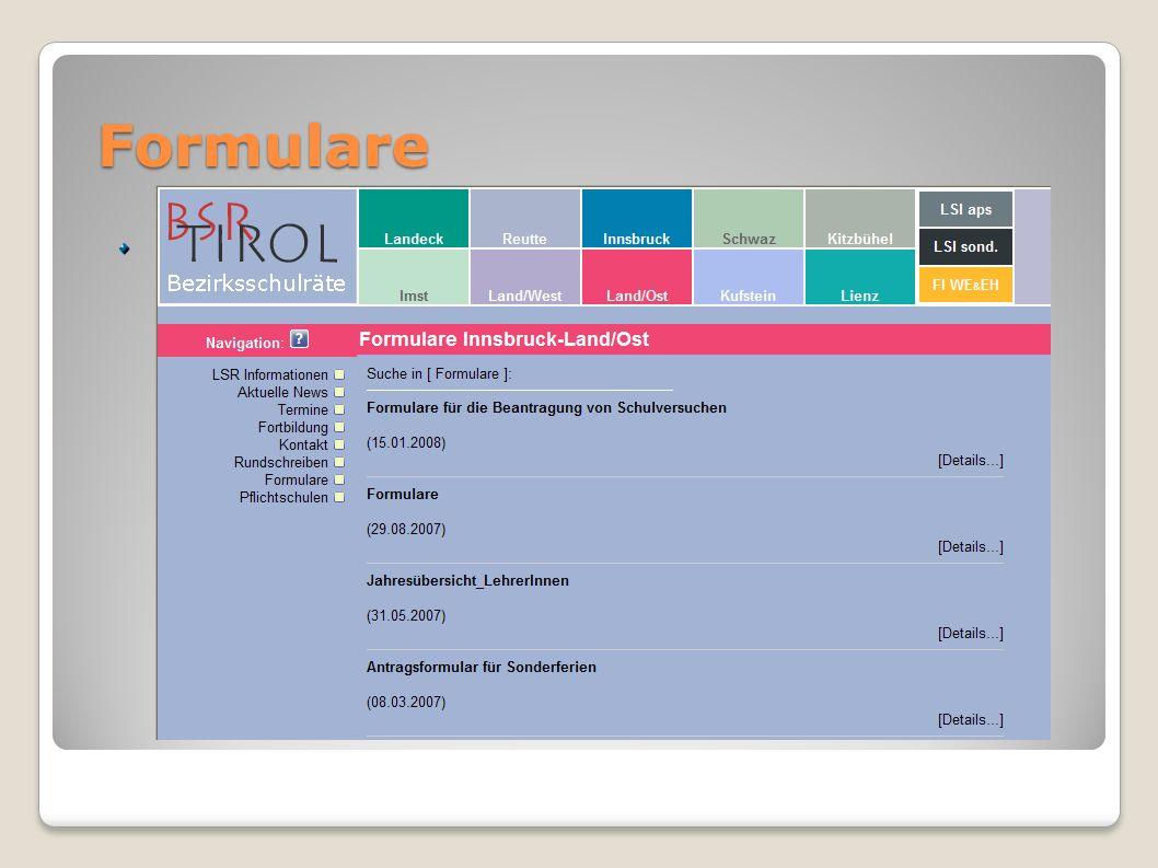 Formulare Mustervorlagen von HP BSRBSR