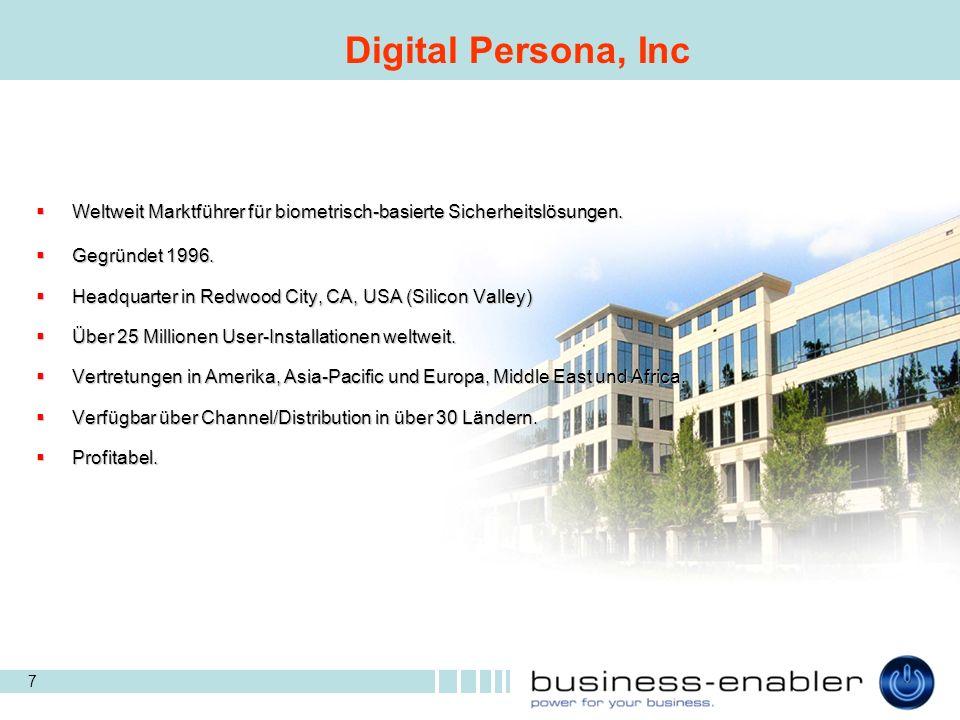 18 One-Touch Technologie ermöglicht rasche Authentifikation gegenüber Programmen oder dem WEB.
