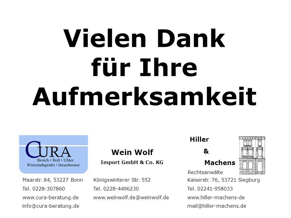 Vielen Dank für Ihre Aufmerksamkeit Maarstr.84, 53227 BonnKönigswinterer Str.