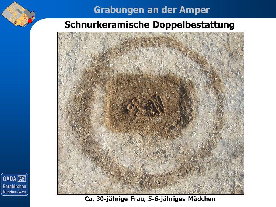 Grabungen an der Amper Schnurkeramische Doppelbestattung Ca. 30-jährige Frau, 5-6-jähriges Mädchen