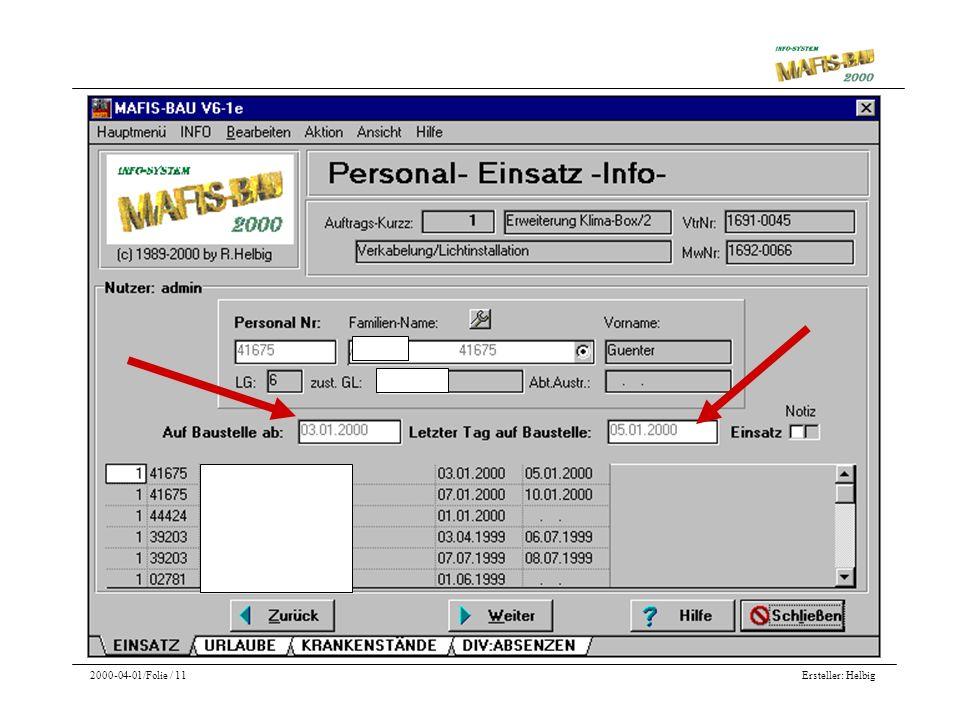 Ersteller: Helbig2000-04-01/Folie / 11