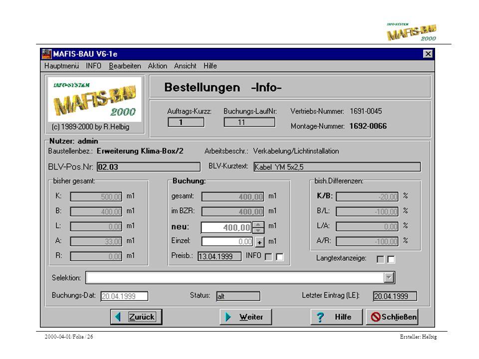 Ersteller: Helbig2000-04-01/Folie / 26