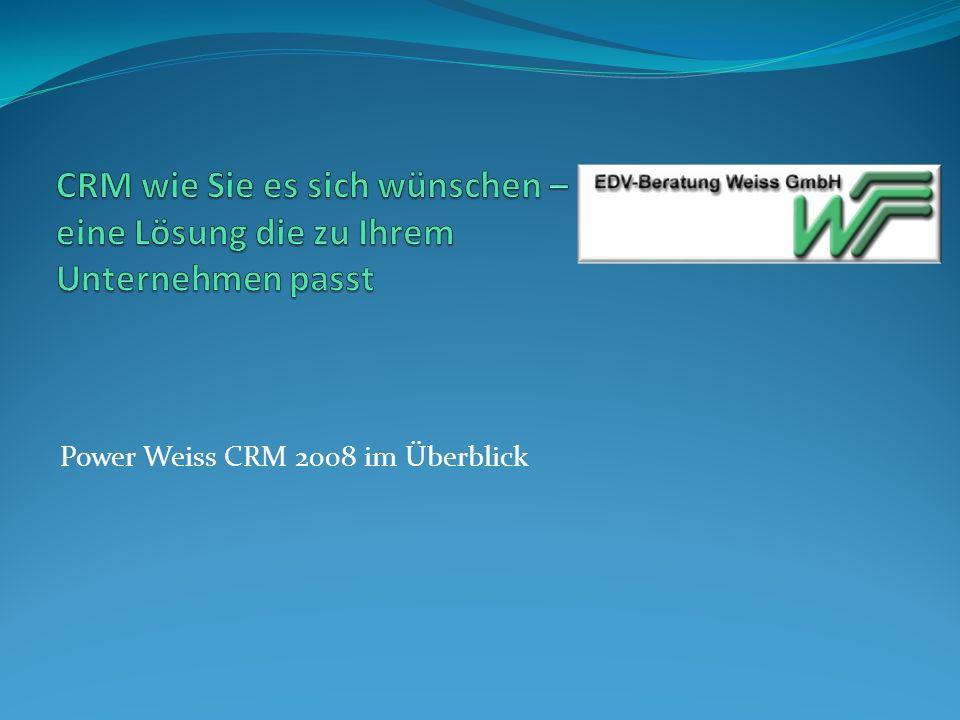 Power Weiss CRM 2008 im Überblick