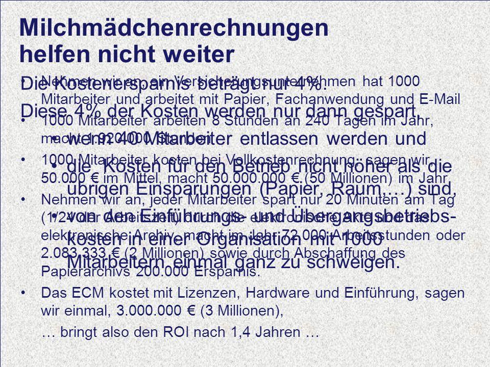 12 Computerwoche ECM Initiative Dr. Ulrich Kampffmeyer PROJECT CONSULT Unternehmensberatung Dr.
