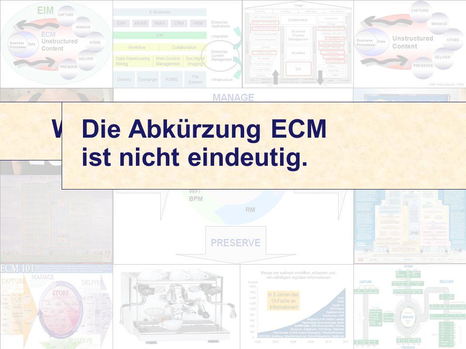 2 Computerwoche ECM Initiative Dr. Ulrich Kampffmeyer PROJECT CONSULT Unternehmensberatung Dr.