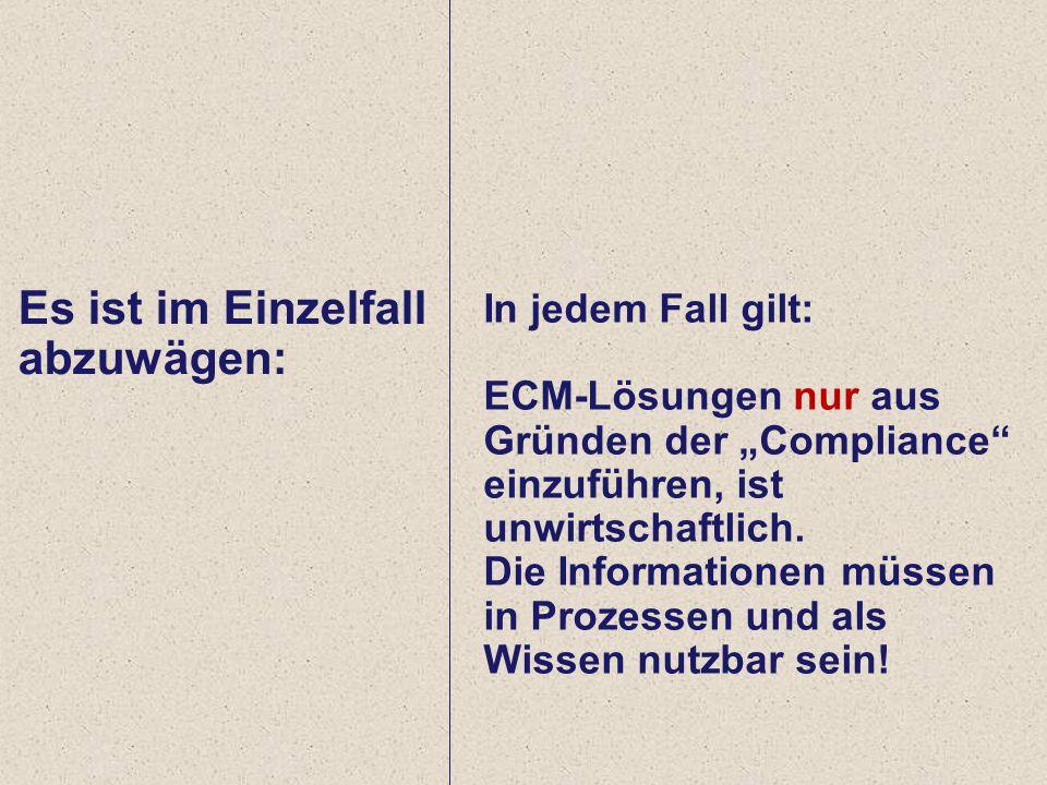 32 Computerwoche ECM Initiative Dr. Ulrich Kampffmeyer PROJECT CONSULT Unternehmensberatung Dr.