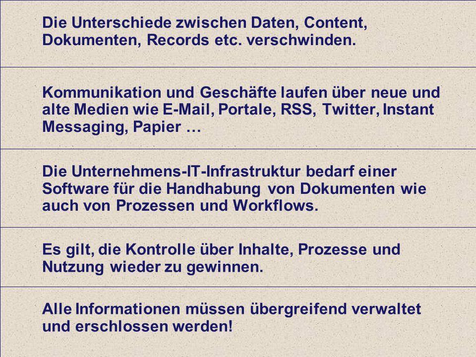 34 Computerwoche ECM Initiative Dr. Ulrich Kampffmeyer PROJECT CONSULT Unternehmensberatung Dr.