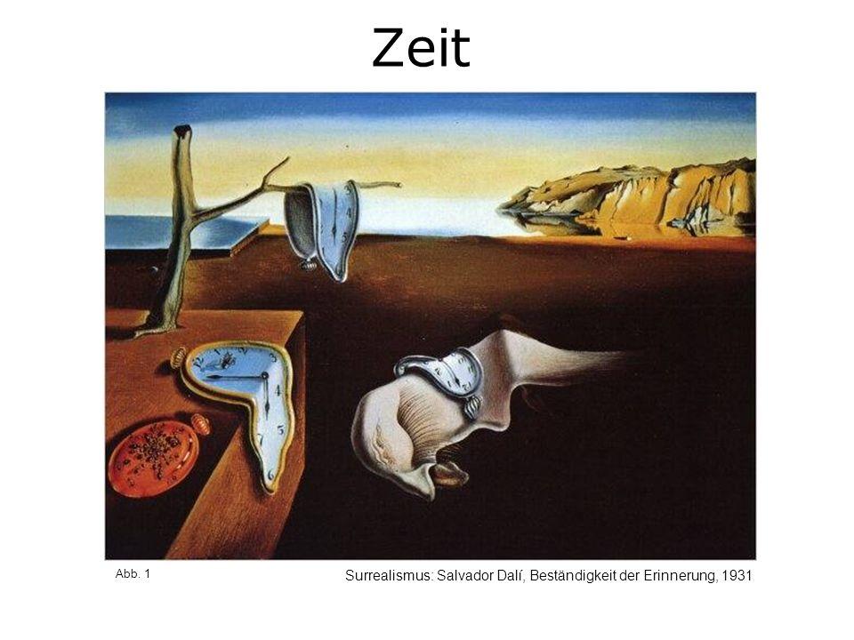 Zeit Surrealismus: Salvador Dalí, Beständigkeit der Erinnerung, 1931 Abb. 1
