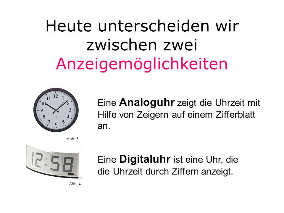 Verschiedene Uhren Taschenuhr Armbanduhr Wanduhr Stoppuhr Abb. 8 Abb. 7 Abb. 6 Abb. 5