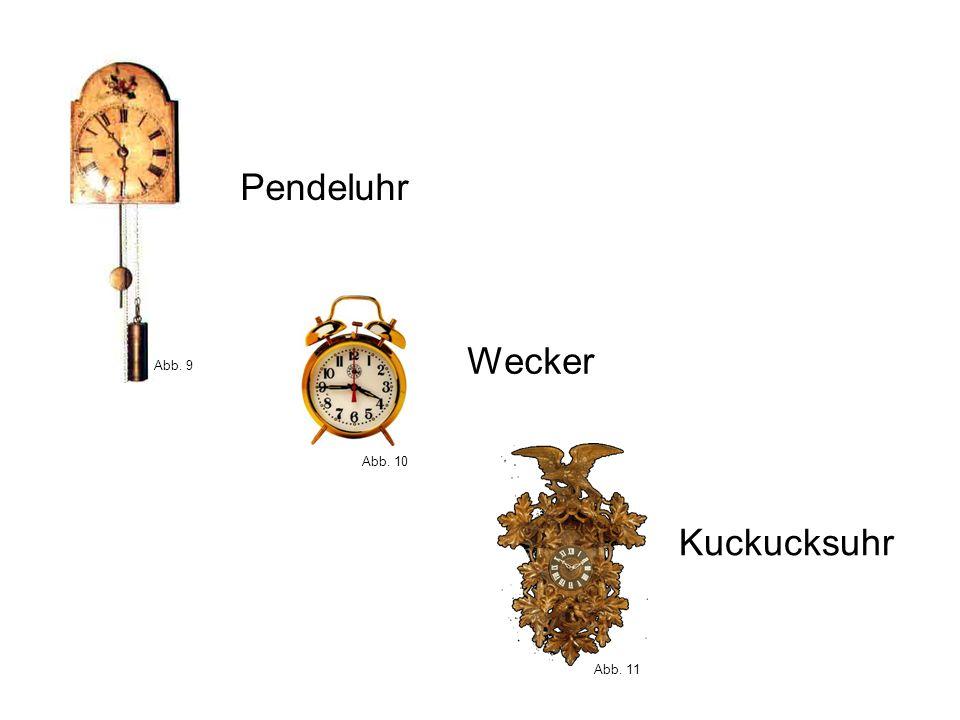 Kuckucksuhr Pendeluhr Wecker Abb. 9 Abb. 10 Abb. 11