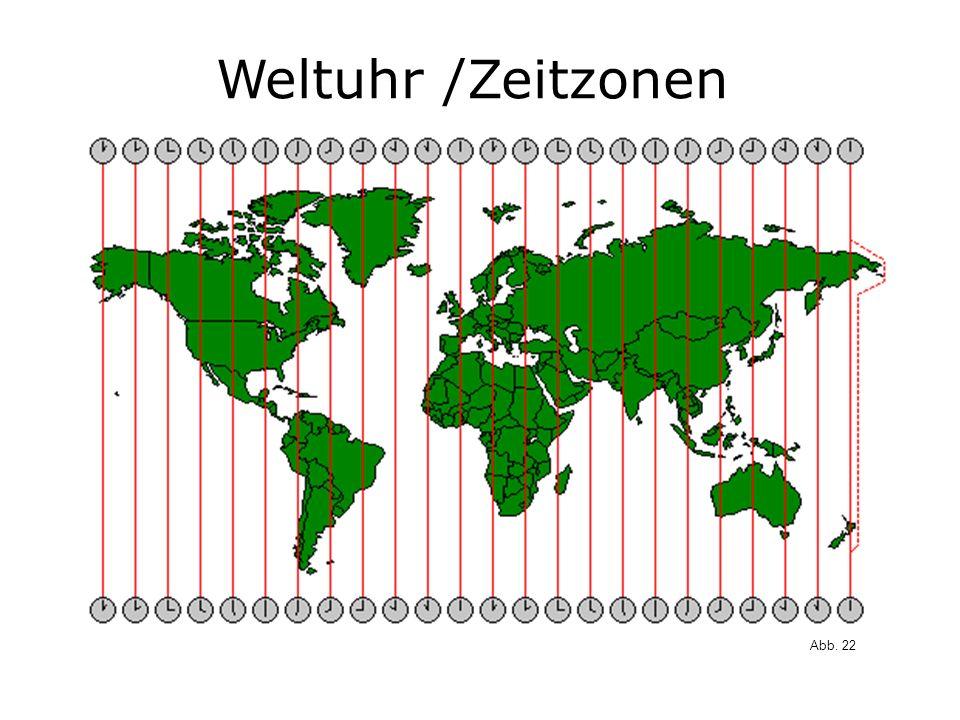 Weltuhr /Zeitzonen Abb. 22