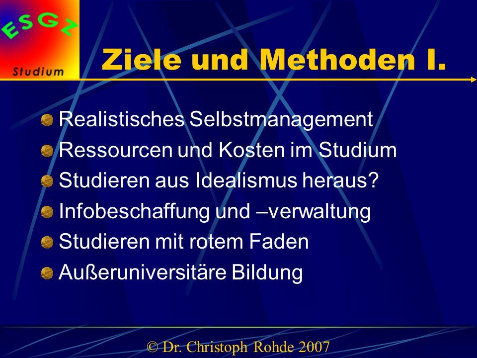 Ziele und Methoden I.
