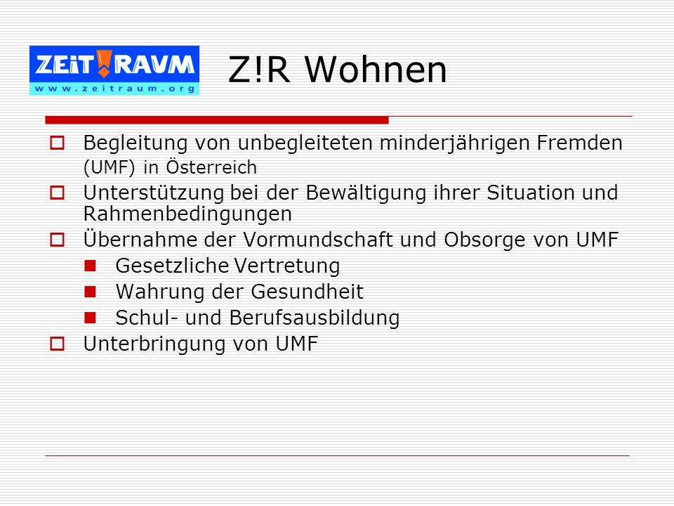 Begleitung von unbegleiteten minderjährigen Fremden (UMF) in Österreich Unterstützung bei der Bewältigung ihrer Situation und Rahmenbedingungen Überna