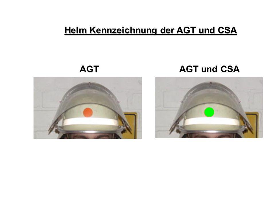 Helm Kennzeichnung der AGT und CSA AGTAGT und CSA Atemschutz – Konzept