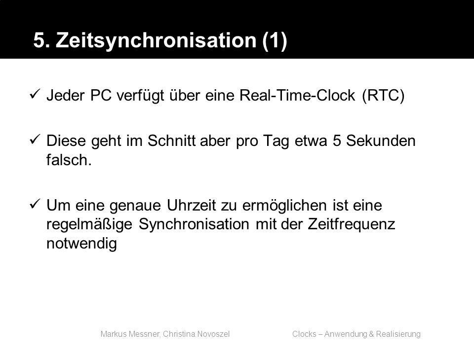Markus Messner, Christina Novoszel Clocks – Anwendung & Realisierung Jeder PC verfügt über eine Real-Time-Clock (RTC) Diese geht im Schnitt aber pro Tag etwa 5 Sekunden falsch.