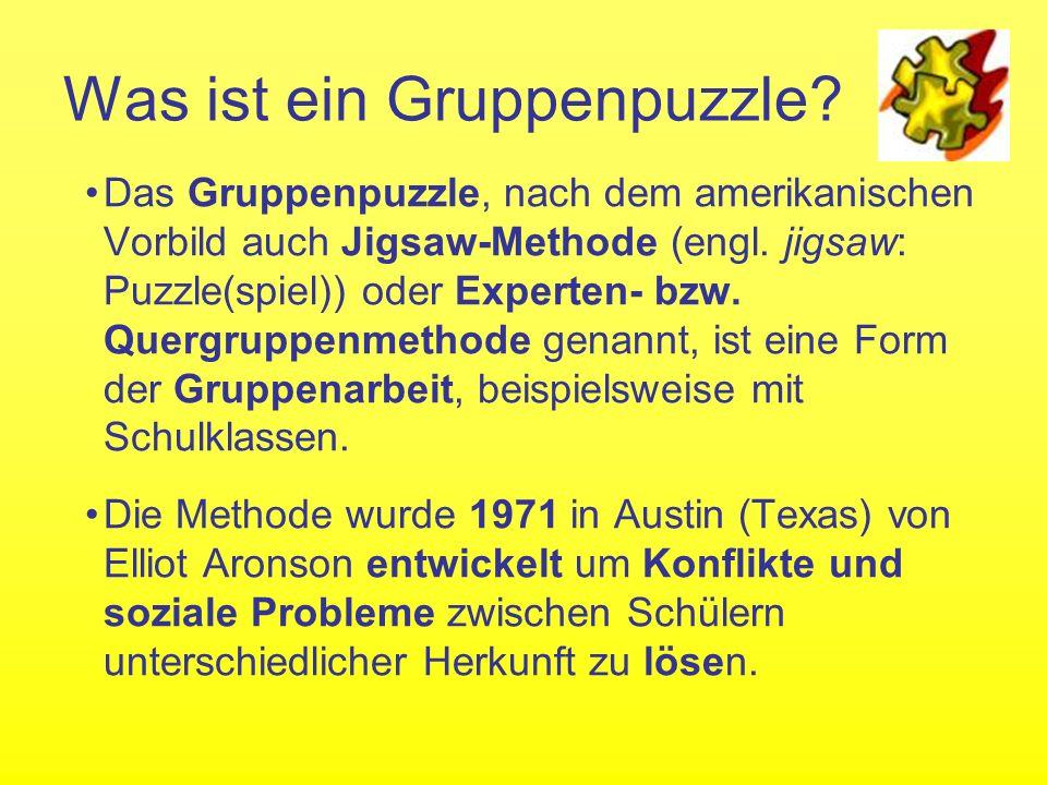 Gruppenpuzzle Thema: Abschluss eines Vertrages