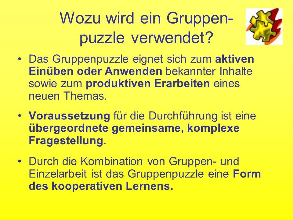 Wie funktioniert ein Gruppenpuzzle.